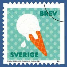 Swedish postage stamp