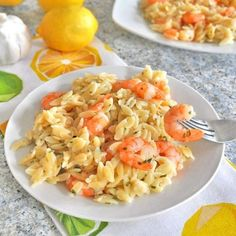This Garlic Lemon Shrimp Orzo Recipe makes a quick dinner during a busy week.