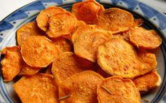 Chips saudáveis de batata doce