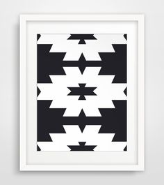 Southwestern Print, Black and White, Navajo Print, Aztec Print, Nordic Ikat, Printable Wall Art, Tribal Pattern Print by MelindaWoodDesigns on Etsy https://www.etsy.com/listing/183691040/southwestern-print-black-and-white