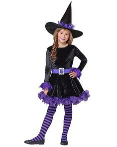 Purple Shredded Witch Child Costume - Did you know the cutest witches are often the most powerful? Work your magic on Halloween wearing this Purple Shredded Witch Child Costume. Kids Witch Costume, Little Girl Halloween Costumes, Halloween Looks, Spirit Halloween, Girl Costumes, Halloween 2019, Halloween Ideas, Elise Fashion, High Quality Halloween Costumes