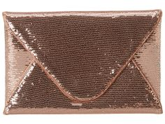 "BCBGMAXAZRIA ""Harlow"" Envelope clutch in Blush"