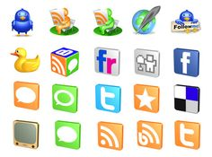 Free 3D Social Icons represent a free icon collection well-suited for websites and applications associated with all sorts of social networks.