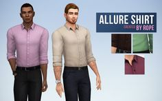 Simsontherope: Allure Shirt • Sims 4 Downloads