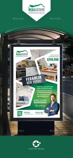 Real Estate Poster Templates — Photoshop PSD #42x64 #single-family • Download ➝ https://graphicriver.net/item/real-estate-poster-templates/19168947?ref=pxcr