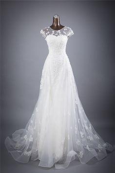 Real photo lace flores O_neck e Sexy Backless bainha vestidos de Casamento vestidos de noiva robe de mariage em Vestidos de casamento de Casamentos & Eventos no AliExpress.com | Alibaba Group