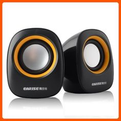 Earise AL-101 3.5mm Mini Computer Speakers, Powered by USB (Black) - Audio gadgets (*Amazon Partner-Link)
