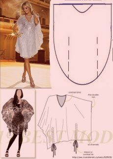 Patterns by means of which even the schoolgirl will manage to sew a dress the hands.What About Amazing Easy Sewing Projects ? Tunic Sewing Patterns, Clothing Patterns, Dress Patterns, Fashion Sewing, Diy Fashion, Ideias Fashion, Moda Fashion, Sewing Dress, Diy Dress
