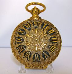 Vintage Compact in the Shape of a Pocket Watch - Shop for Vintage Compacts $125.00