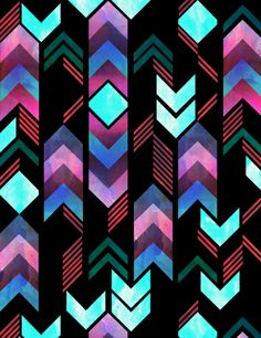 Montauk Native Art Print by schatzibrown #schatzibrown #pattern #tribal #native #chevron