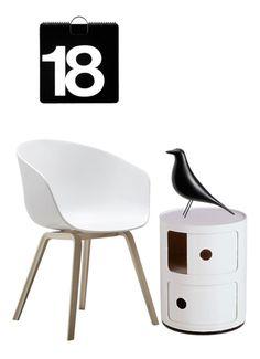 Via Flor   Hay   Kartell   Eames   Massimo Vignelli   Black and White
