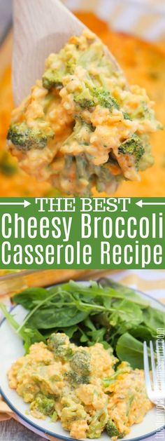 The BEST side dish recipe ever. This Cheesy Broccoli Casserole is a recipe passed down from my mom and one of my all-time favorites. It's simple to make and taste amazing, a real crowd pleaser. Best Potluck Dishes, Best Side Dishes, Dinner Dishes, Broccoli Recipes, Veggie Recipes, Cooking Recipes, Healthy Recipes, Oven Recipes, Easy Cooking