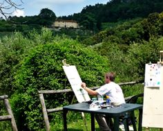 Italian painting courses: work from light (white of the paper) to dark #painting #holidays #Italy