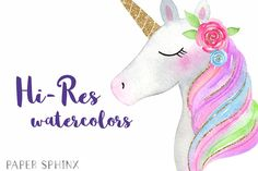 Watercolor Unicorn Party Clipart by PaperSphinx on Unicorn Face, Rainbow Unicorn, Unicorn Party, Childrens Party, Best Part Of Me, Digital Scrapbooking, Gift Tags, Clip Art, Kawaii