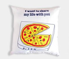 Cushion Pillow Cover Pizza Share My Life by TheGretest on piiqshop!    http://www.piiqshop.com/ev-bahce/ev-dekorasyonu/minder-yastik/cushion-pillow-cover-pizza-share-my-life.html