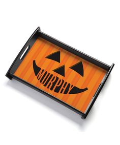 Look at this Jack-O'-Lantern Personalized Serving Tray on #zulily today!