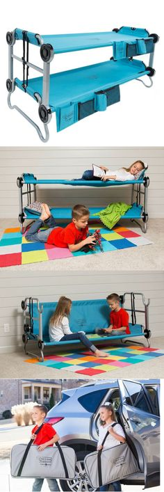 How cool are these traveling bunk beds? I would have loved these as a kid! Great for the holiday travels!