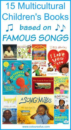 Multicultural Children's Books based on famous songs: Picture books about famous songs; for Babies & Toddlers, Preschool, Elementary School; Ages 0 to 10 Preschool Music, Preschool Books, Teaching Music, Teaching Reading, Learning, Phonics Books, Preschool Classroom, Reading Lists, Classroom Ideas