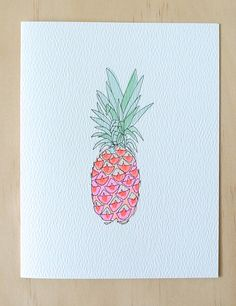 Neon Pineapple by HartlandBrooklyn on Etsy, $4.50