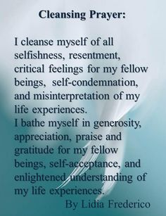 cleansing prayer by lidia frederico The Words, Was Ist Reiki, Smudging Prayer, Sage Smudging, Spiritual Cleansing, Sage Cleansing Prayer, Soul Cleansing, Cleanse Me, Health Cleanse
