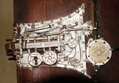 Lock of a wooden sacristy door, in the fortified church of Biertan, Romania, completed in 1524. It contains 22 bolts.