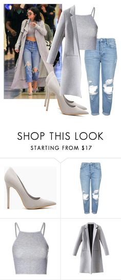 """Kylie Jenner style steal"" by tinakini ❤ liked on Polyvore featuring Topshop and Glamorous"
