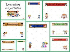 sport theme learning objective posters