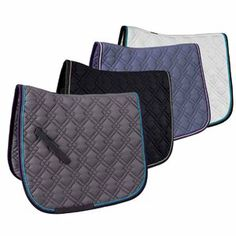 I'm not sure which one I like better, the gray or the purple-y (it looks blue in this photo) one. The black one looks classy too! I think my horse needs all 3 for her wardrobe :)