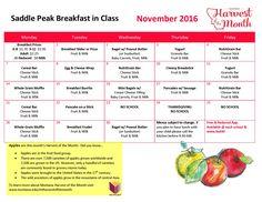 Saddle Peak Breakfast Nov 2016 Menu HOM