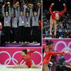 Women's Gymnastics Gold!! Favorite Olympic Event ! (: Fab Five ! (: