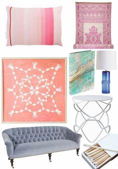 Vintage Inspiration: Peach Floral Pots via DesignSponge