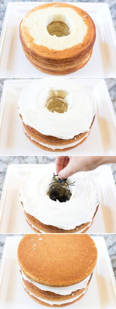 How to make a Halloween Surprise Spider Cake! http://Pizzazzerie.com