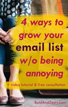 It seems like everyone is obsessed with growing email list these days.  And for a good reason: email is still the most effective marketing channel in terms of return on investment.  You probably want to grow your number of email subscribers, too. This post gives excellent tips for doing that without annoying tools like popups, slide-in forms, welcome gates, and other opt-in weapons.