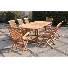Alice\'s Garden Bergamo 6 Seater Dining Set with Cushions in ...