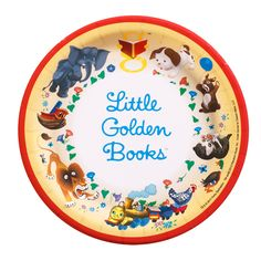 Little Golden Books Dessert Plates Thepartyworks Mother Goose Nursery Rhymes Printable Digital Pdf