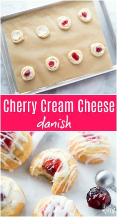 My Easy Cherry Cheese Danish recipe uses a super sneaky shortcut to make homemade Danish easy. Cherry Cheese Danish Recipe, Cream Cheese Danish, Pastry Recipes, Dessert Recipes, Drink Recipes, Norwegian Food, Norwegian Recipes, Canning Cherry Pie Filling, Easy Summer Desserts
