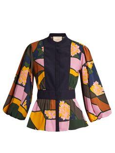 Roksanda Floral-print Elcet Silk-chiffon Blouse In Multicolour Floral Print Shirt, Floral Prints, Floral Blouse, Blue Blouse, Floral Sleeve, Silk Chiffon, Chiffon Tops, Roksanda, Polyvore Fashion