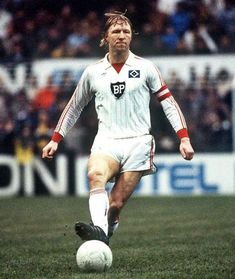 Horst Hrubesch of Hamburg SV in 1982.