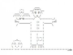 Crows, Ravens and Scarecrows in ASCII Art