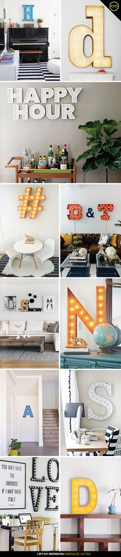 DIY INSPIRATION   Marquee Letters   I SPY DIY