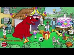 Videos Kids: Big red Dog Clifford : Clifford's Birthday - Cliff...