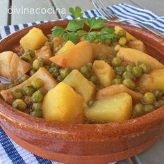 Patatas con chocos < Divina Cocina