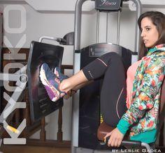 Campaña Kyoko Sportwear by Leslie Gadea para la campaña #vertigo SS18. Tendencia fitness Argentina.