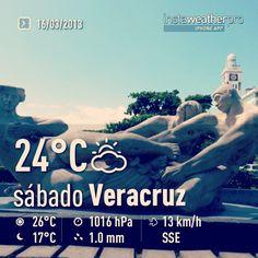 Buenos días a todos que tengan un excelente #sabado y disfruten este puente en el bello #Veracruz el cual al parecer contara con un buen #clima este puente. Regálame un #like  en #facebook http://www.Facebook.com/turismoenveracruzaventura #BocaDelRio #Mexico