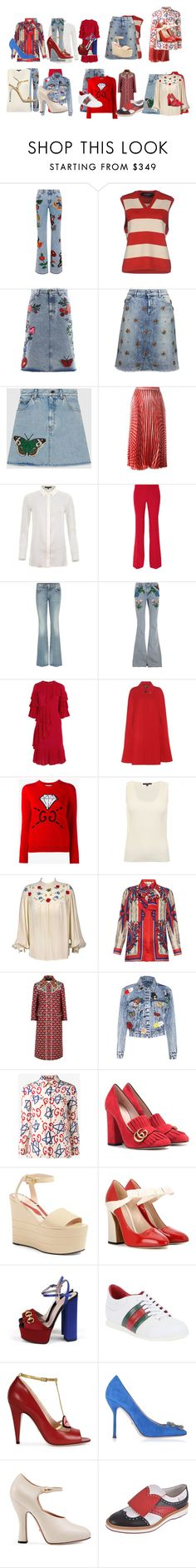 """Untitled #4079"" by luciana-boneca on Polyvore featuring Gucci and Alice + Olivia"
