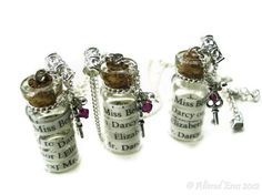 Pride n Prejudice Darcy Jane Austen Necklace