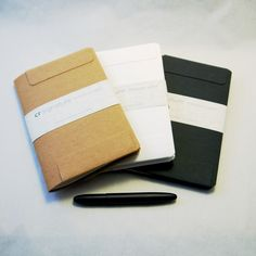 CR Signature notebooks: A notebook and a wallet in one. Simple, clever, durable, recyclable. Of course.