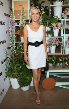 Danielle Spencer in the Myer Marquee on Derby Day Russell Crowe, Black And White Theme, Derby Day, Color Blocking, Dresses, Fashion, Vestidos, Moda, Fashion Styles