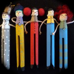 Custom Hand made peg doll brooch by ThePegPeople on Etsy, $12.00