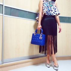 Lady DIOR bag | CAMEO THE LABEL CMEO COLLECTIVE top | H AND M fringe skirt | instagram: @quennandher | https://instagram.com/quennandher